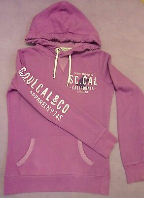 Soul Cal & Co Deluxe Retro Preppy Gym Surf Hoodie Sweat Top Pink Purple 10 S 38