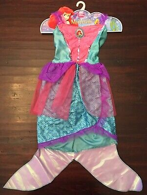 Disney Princess The Little Mermaid Ariel Costume Girls Dress w/Fin Dress Up 4-6x - Ariel Princess Dress Costume