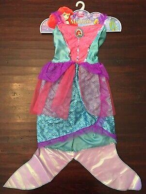 Disney Princess The Little Mermaid Ariel Costume Girls Dress w/Fin Dress Up 4-6x](Disney Dress Up Princess)