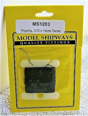 "Model Shipways Fittings MS 1203 Black Tarred Rigging. .012"" X 30'. 10 YDS. NEW."
