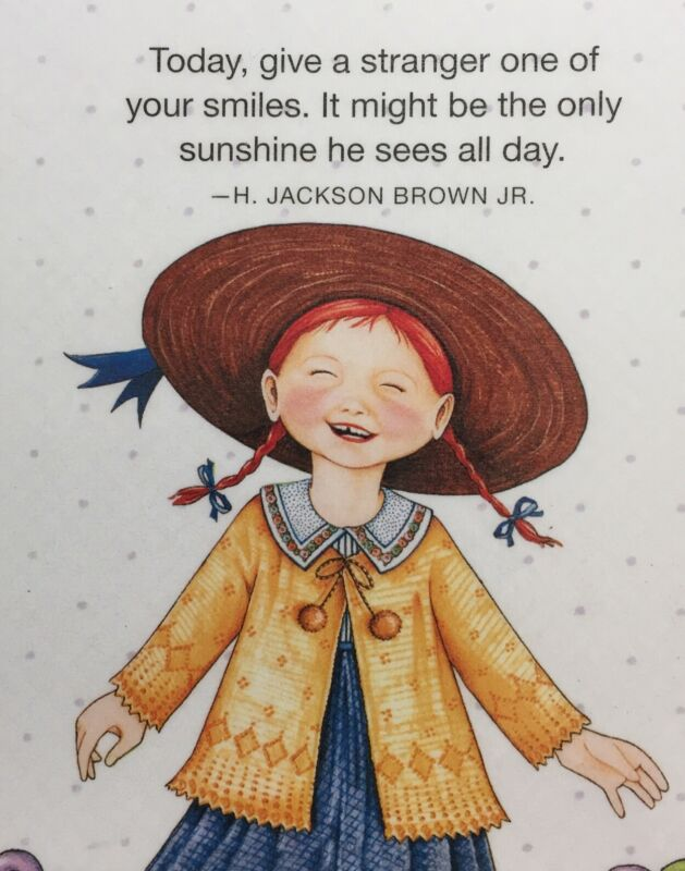 Mary Engelbreit Handmade Magnet-Today, Give A Stranger One Of Your Smiles