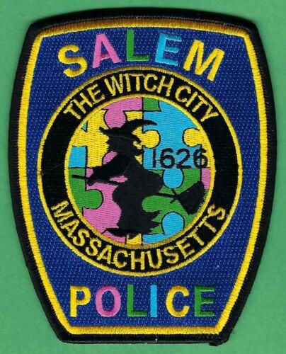 SALEM MASSACHUSETTS POLICE SHOULDER PATCH WITCH CITY AUTISM AWARENESS
