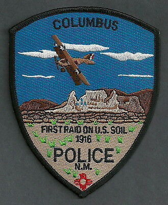 COLUMBUS NEW MEXICO POLICE PATCH BI-PLANE!