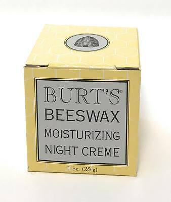 Burts Bees Beeswax Moisturizing NIGHT Creme, 1 oz Cream Jar