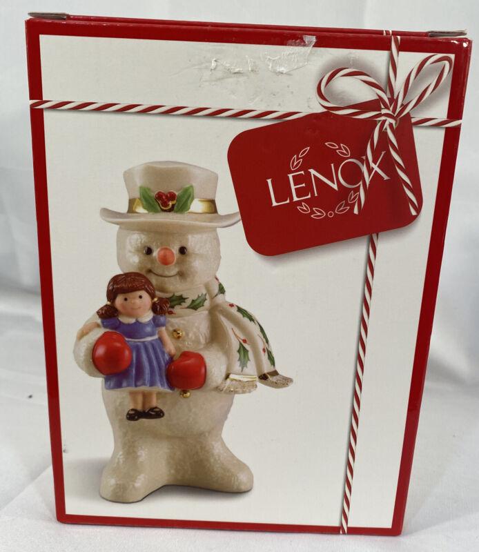 Lenox 2020 Holiday Snowman with Doll Figurine  Christmas