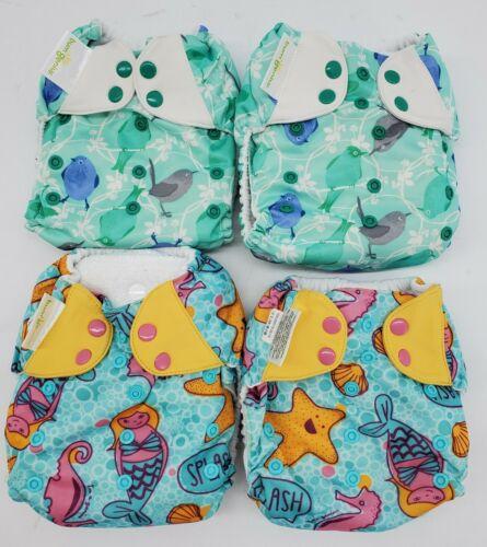 Girls Bumgenius 3 In 1 Pocket Cloths Diapers Colorful Sea Mermaid Bird Lot - $72.00