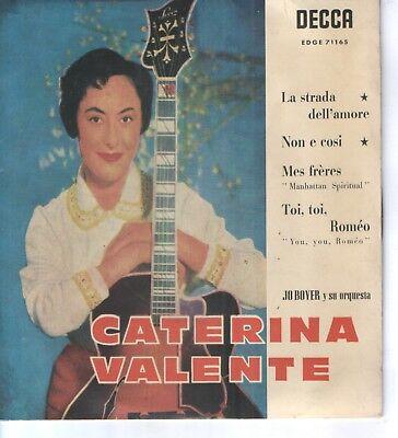 CATERINA VALENTE EP Spain 1959 La strada dell'amore +3