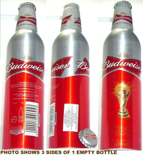 2010 ARGENTINA DECAL UK WORLD CUP SOCCER BUDWEISER ALUMINUM BOTTLE BUD BEER CAN