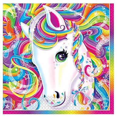 RAINBOW MAJESTY Lisa Frank Large Luncheon NAPKINS Birthday Party Supplies Pony