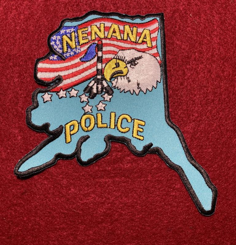 NENANA POLICE PATCH AK ALASKA USA FLAG EAGLE