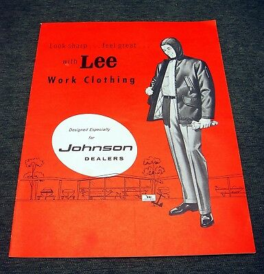 Vintage Johnson Outboard Motor Catalog Lee Work Clothing For Dealers  (Catalogues For Clothes)