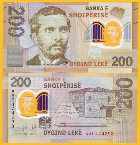 Albania 200 Leke p-new 2019 UNC Polymer Banknote