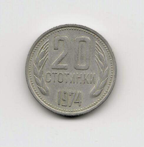 World Coins - Bulgaria 20 Stotinki 1974 Coin KM# 88