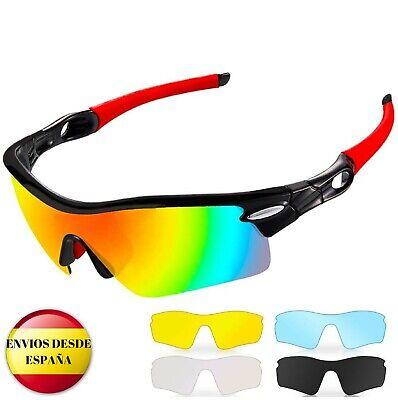 Gafas de sol deportivas,CrazyFire UV 400 Protección, polarizadas con 5 lentes In