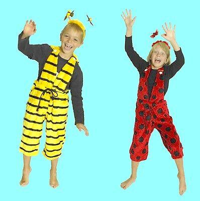 Biene Mädchen Kostüm (Kinder Kostüm MARIENKÄFER Käfer BIENE Hose Jungen Mädchen Fasching 116 / 128 NEU)