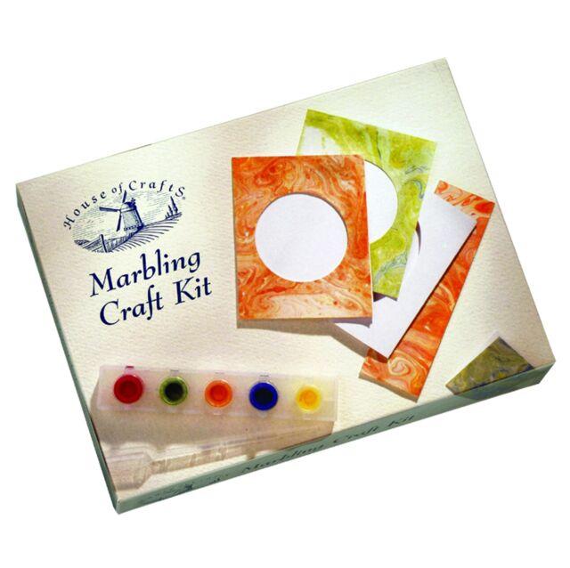 MARBLING INK STARTER KIT HOUSE OF CRAFTS COMPLETE GIFT SET PAINT CARDS MK003