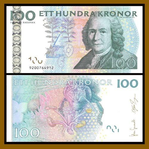 Sweden 100 Kronor, 2006-2010 P-65c Honeycomb Bee Unc