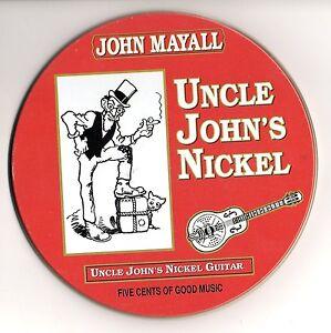 JOHN MAYALL – Uncle John's Nickel-CD- custodia metallica 1995 - Italia - JOHN MAYALL – Uncle John's Nickel-CD- custodia metallica 1995 - Italia
