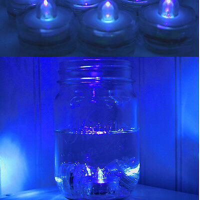 96 BLUE LED Submersible Waterproof Wedding Floral Decoration Tea Vase Light USA