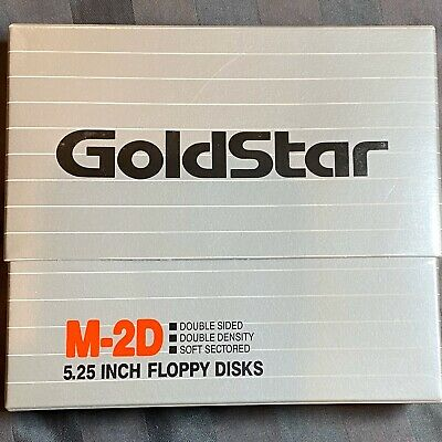"5 1/4""(5.25"") New Box 10 GOLDSTAR DSDD Disk Floppy for Atari 800/XL/XE"