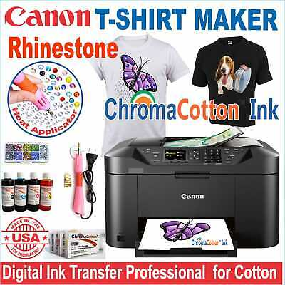 Canon Printer Machine Heat Transfer Ink X Cotton T-shirt Rhinestone Start