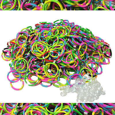 600 TIE DYE Authentic Fun Loom Rubber Bands Refills for Bracelets- FREE USA SHIP](Rubber Band Looms)