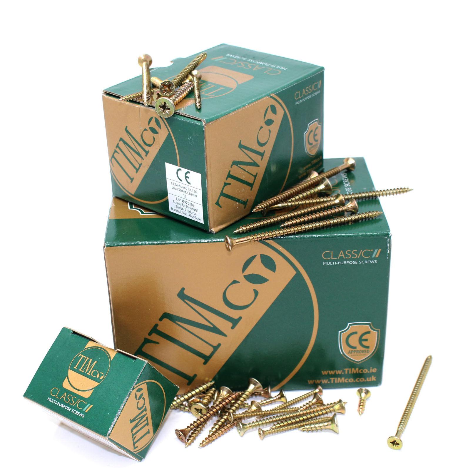 "WOOD MDF /& PLASTIC MULTI PURPOSE CSK SCREW 4g x 1//2/"" TIMCO 3.0 x 12 1000"