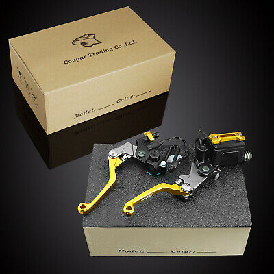 Brake Clutch Lever Kit - MZS Pivot Brake Clutch Lever Master Cylinder Reservoir Kit Fit Suzuki Motorcycle