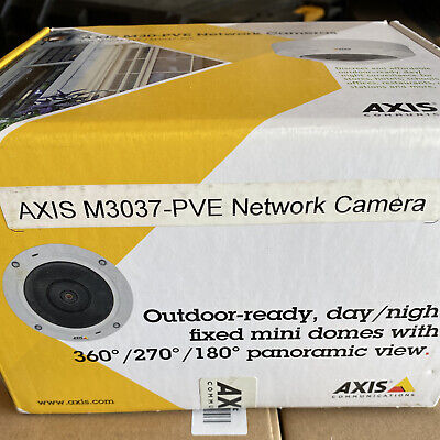 Axis M3037-pve Ip Compact Fixed Mini Dome Camera 5mp0548-001 Outdoor