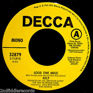 HELP-Rare-Mint-Funky-Garage-Psych-45-Good-Time-Music-Hold-On-Child-DECCA-32879
