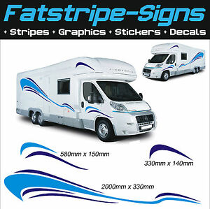 2m MOTORHOME VINYL GRAPHICS STICKERS DECALS SET CAMPER VAN RV CARAVAN HORSEBOX
