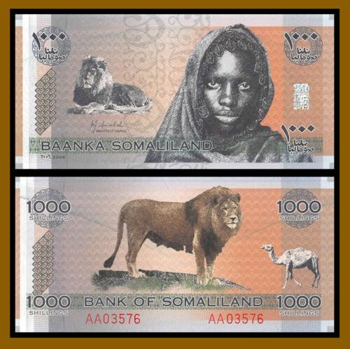 Somaliland 1000 (1,000) Shillings, 2006 P-CS1 Collector Series Unc