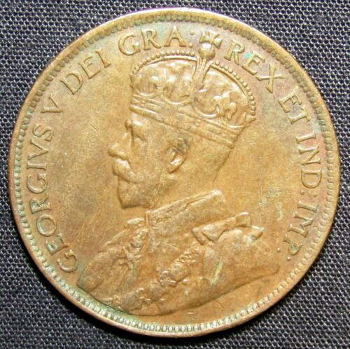 1920 Canada 1 Large Cent Coin