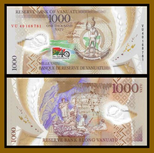 Vanuatu 1000 (1,000) Vatu, 2020 P-New 40 Comm. Independence Polymer Unc