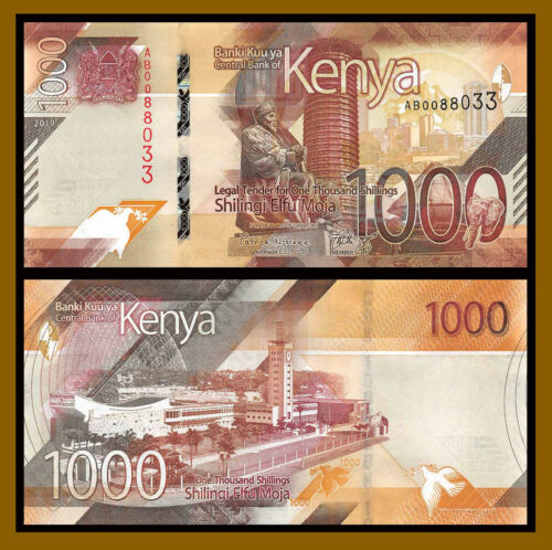 Kenya 1000 (1,000) Shillings, 2019 P-New Unc