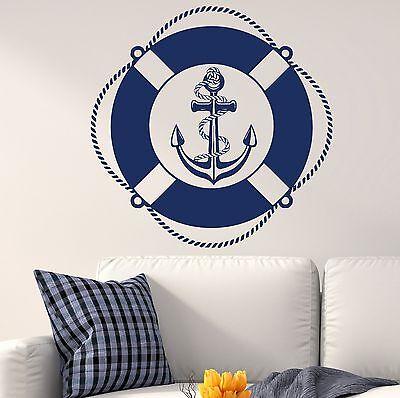 Nautical Decals Vinyl Wall Decal Anchor Sticker Bedroom Boys Window Decor DR9