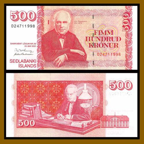 Iceland 500 Kronur, 2001 (2004) P-58 Banknote Unc