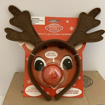 Light Up Red Nose (NEW! Rudolph The Red Nosed Reindeer Headband And Light-Up)