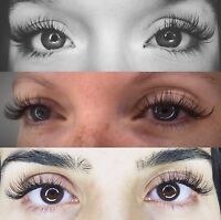 Eyelashes 50% off First Sets!
