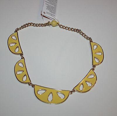New Gymboree Sunny Citrus Line Sunny Lemon Slice Chain Necklace One Size NWT