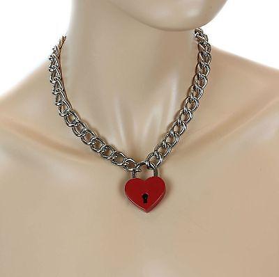 Heart Lock Charm Pendant (Heart Padlock Lock Pendant Charm  Choker Necklace Punk Goth Pinup Valantine )