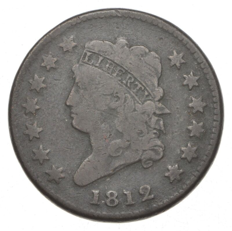 1812 Classic Head Large Cent *9176