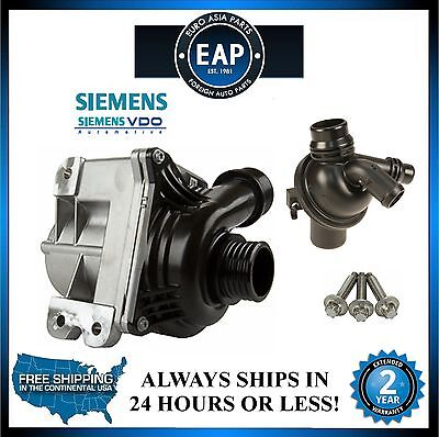 For 2011-2012 740i 740Li Siemens VDO Water Pump w/ Bolt Set And Thermostat New