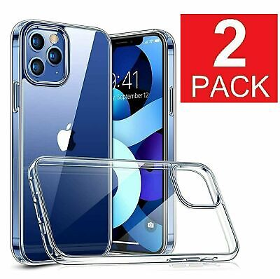 2-Pack For Apple iPhone 12 Pro Max Mini Shockproof Clear Silicone Soft Case Cases, Covers & Skins