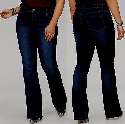 Bootcut Jeans in Größe 50 Kurz Grösse in dark denim 728 Dark Denim Boot-cut Jeans