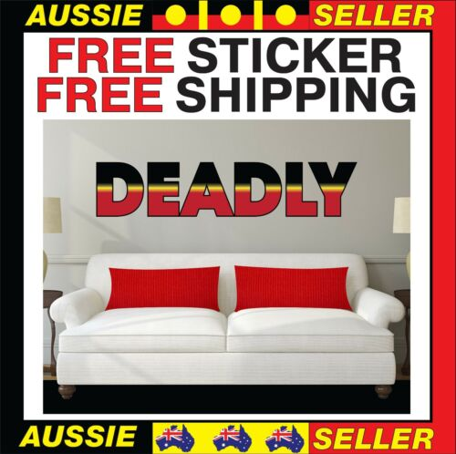Aboriginal Flag Deadly Extra Large Vinyl  Sticker BONUS FREE STICKER INCLUDED
