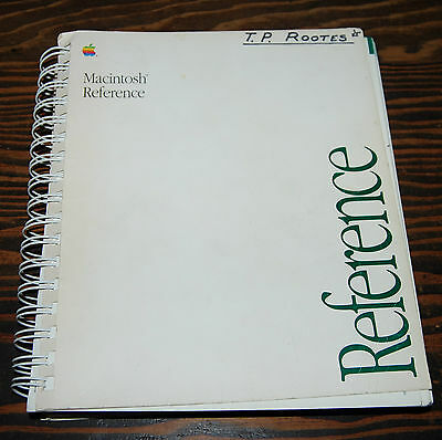 Руководство Vintage Apple Macintosh Reference Manual