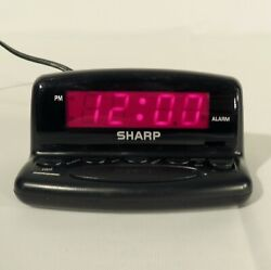 SHARP Nightstand Alarm Clock Digital LED Display with Snooze & Battery Backup