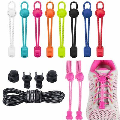 No Tie Shoelaces Elastic Lock Shoe Laces Running Jogging Canvas Sneakers Trainer Clothing & Shoe Care