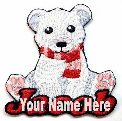 Polar Bear Patch - Polar Bear Custom Iron-on Patch With Name Personalized Free